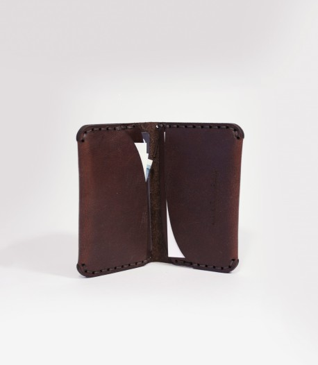 Chestnut Brown Leather Card Wallet Handmade In Great Britain by Lost Kind®