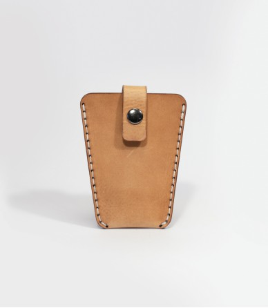 Leather Key Case In Tan Handmade in Britain by Lost Kind®