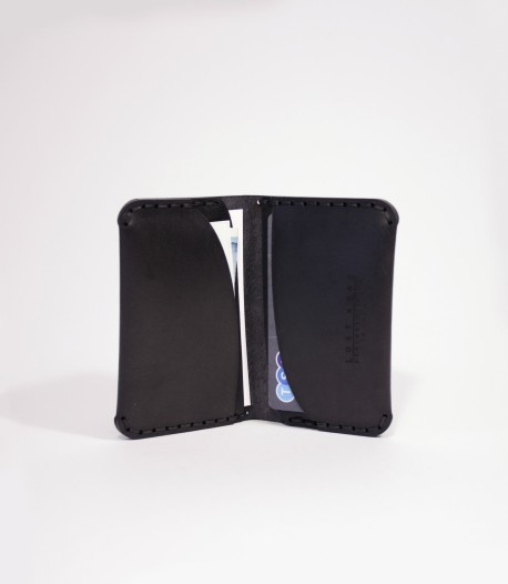 Black Leather Card Wallet Designed by Lost Kind®